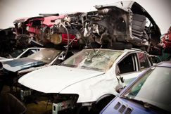 Dismantled cars